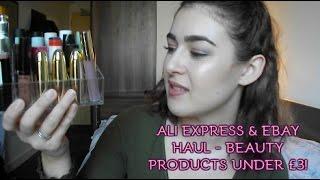 Aliexpress & Ebay Haul! Beauty Products Under £3!   Itszara