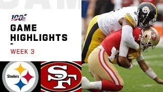 steelers vs 49ers week 3 highlights nfl 2019