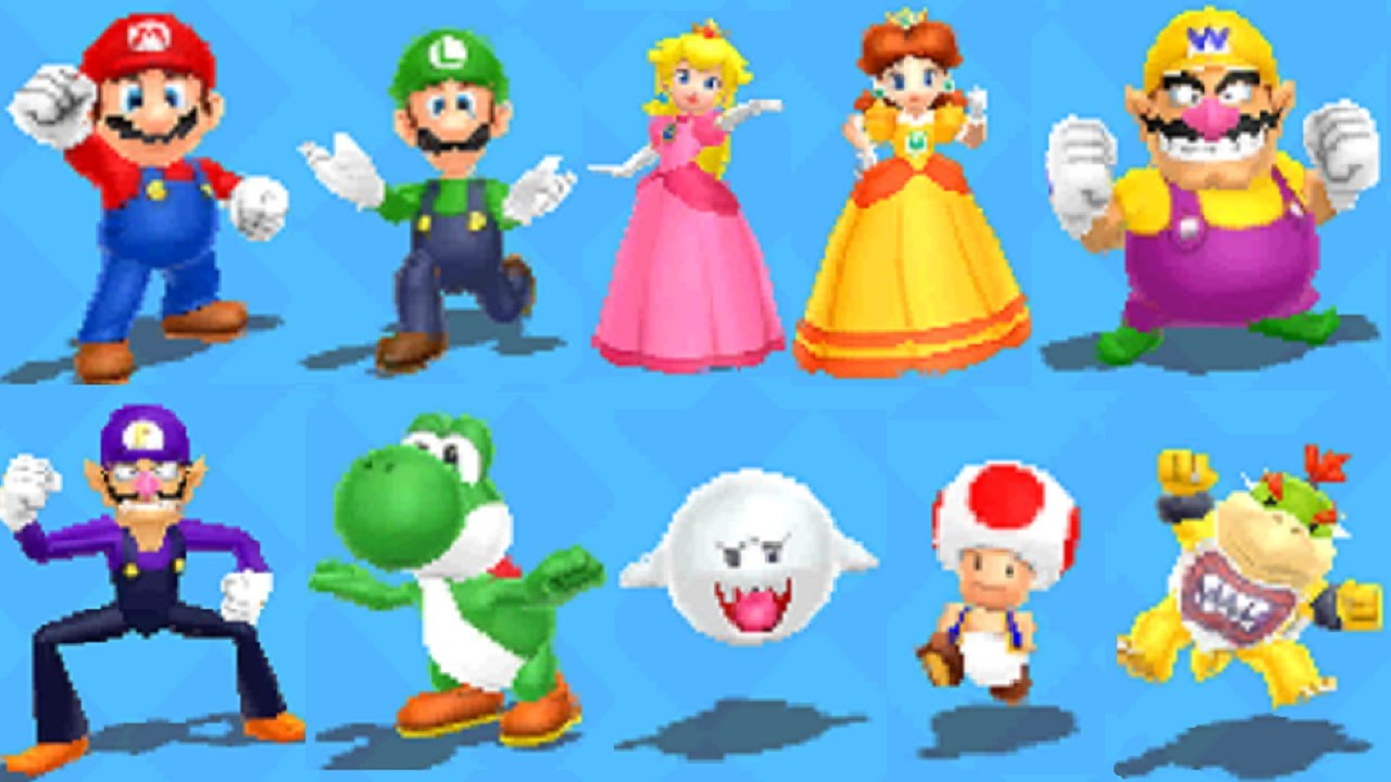 Mario Party Island Tour All Characters