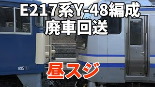 【E217系Y-48編成  昼スジでNN廃回】