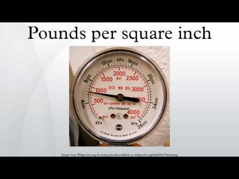 Pounds per square inch