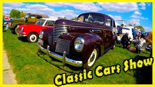"""Classic Retro Cars Show """"Old Car Land"""". Vintage Vehicles from the 60s and 70s"""