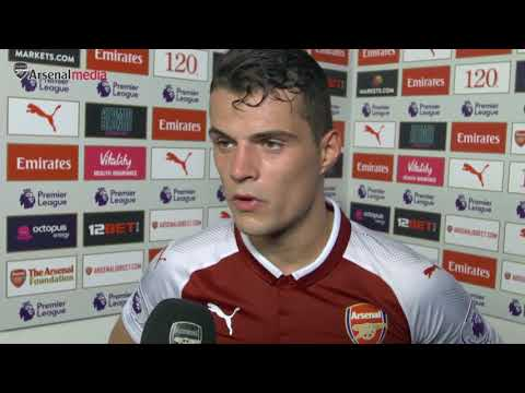 """Xhaka: """"The second goal was my mistake... but i kept working."""" Arsenal vs Leicester (4 - 3)"""
