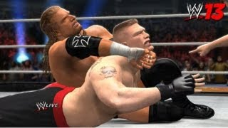 WWE 13 PC Triple H vs. Brock Lesnar at WrestleMania 29