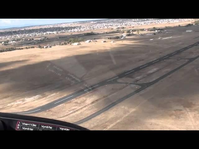 Landing  Meadow Lake Airport  10-11-2010.wmv