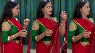 ചന്ദനമഴ സീരിയൽ നടി വട~Mallu Serial Actress Sneha Divakaran Hot In Saree~Chandhanamazha