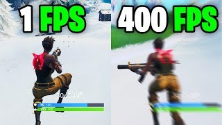 What it feels like to play in 400 FPS - Fortnite Frame rate Comparison 60 vs 144 FPS vs 240 FPS/hz