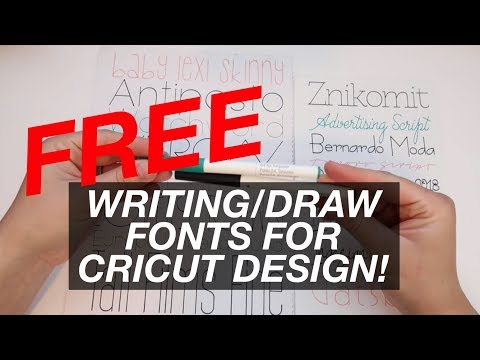 How To Get Free Writing Fonts For Cricut Design Tutorial