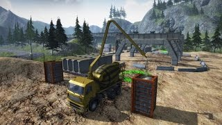 Construction Machines Simulator 2016#4 Betoniarka oraz operator widłaka z MafiąSolec