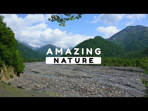 Beautiful Nature Video in Full HD - Summer Season - River Sounds - Village Scenery - 11 Minute