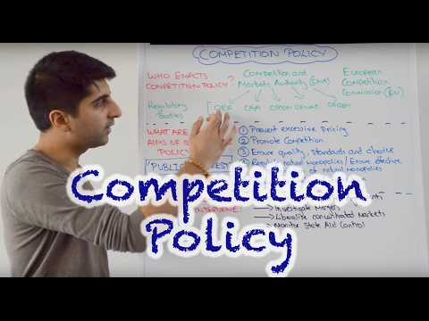 Y2/IB 30) Competition Policy - Aims, Types of Intervention and Regulatory Bodies