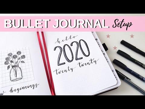 My Simple 2020 Bullet Journal Setup