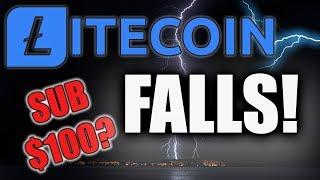 LITECOIN PRICE FALLS - IS SUB $100 LTC IN PLAY?