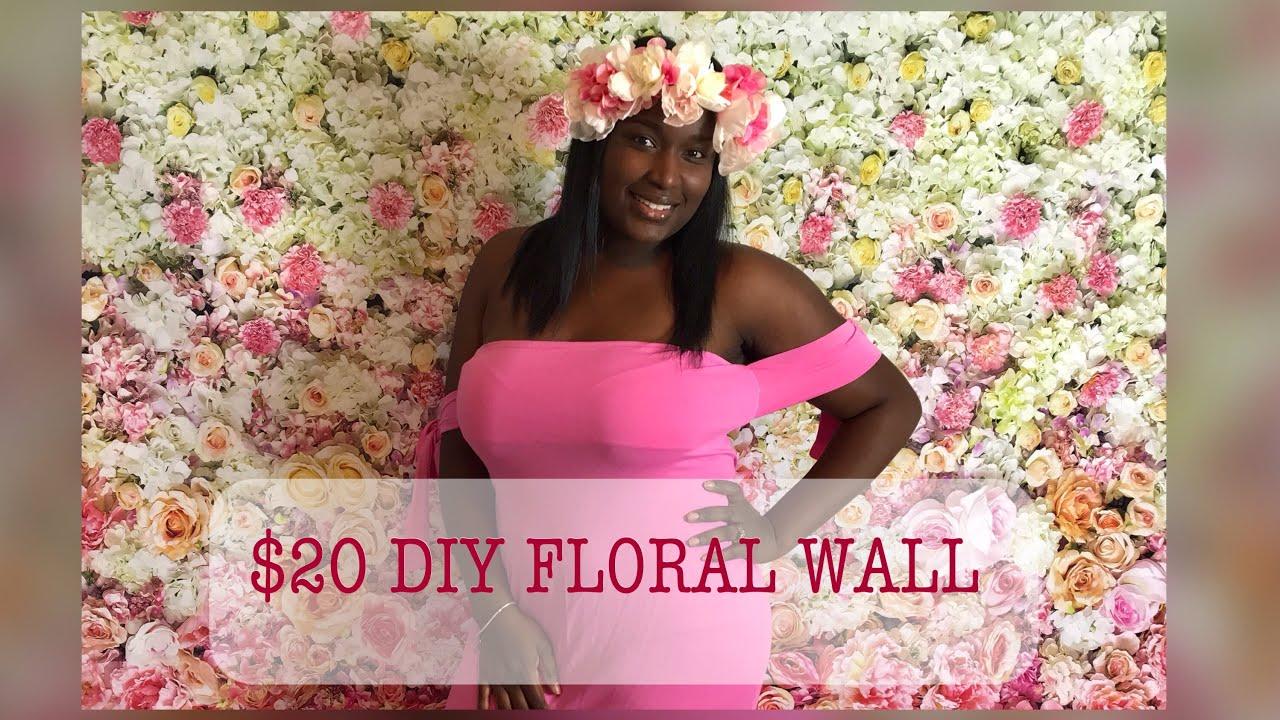 Diy 20 Flower Wall Backdrop Youtube