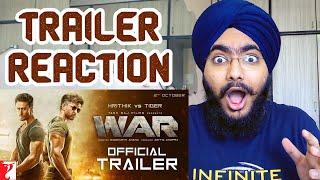 War Trailer REACTION | Hrithik Roshan | Tiger Shroff | Vaani Kapoor | 2 Oct 2019