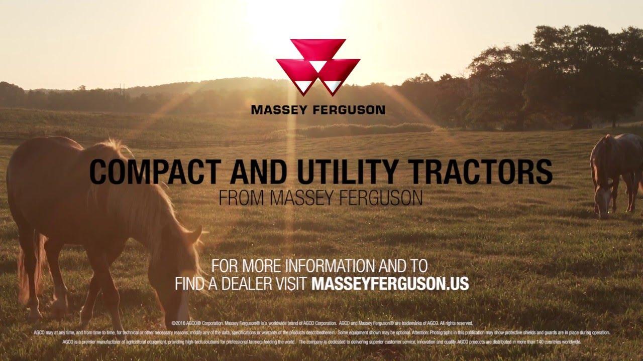 Massey Ferguson Compact and Utility Tractors - YouTube