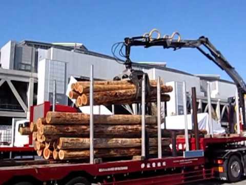 Logging truck demo in Tokyo