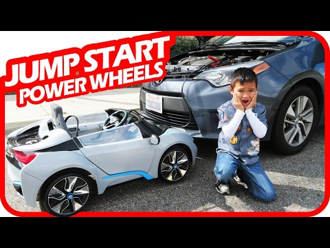 Thumbnail: KIDS JUMP START Mom's Car with Power Wheels, BMW i8 Ride On Toys