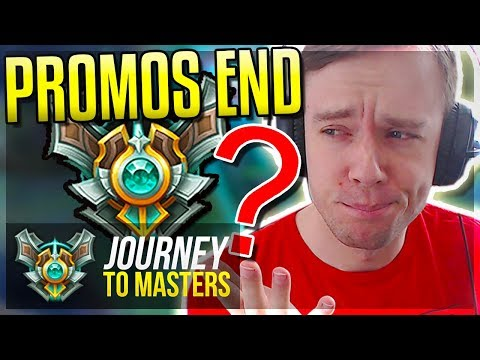 THE END TO MY MASTER PROMOS..DID I GET IT?? - Journey To Masters | League of Legends
