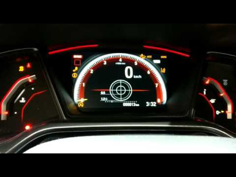 FK8 Civic Type R tft dash - YouTube
