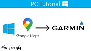 How to plot a route on Google Maps and Navigate it on a Garmin Device