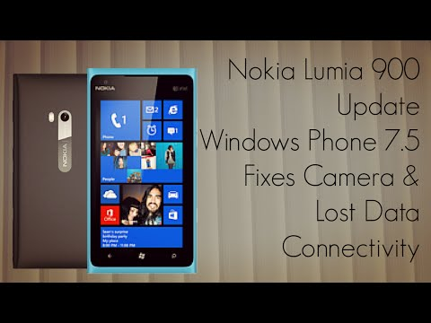 Nokia Lumia 900 Update Windows Phone 7.5 Fixes Camera & Lost Data Connectivity