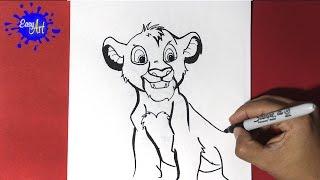 Como dibujar a simba 2 - como dibujar al rey leon - Draw simba lion king - how to draw lion king