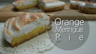 비스킷 베이스 오렌지 머랭 파이 (orange Meringue Pie)