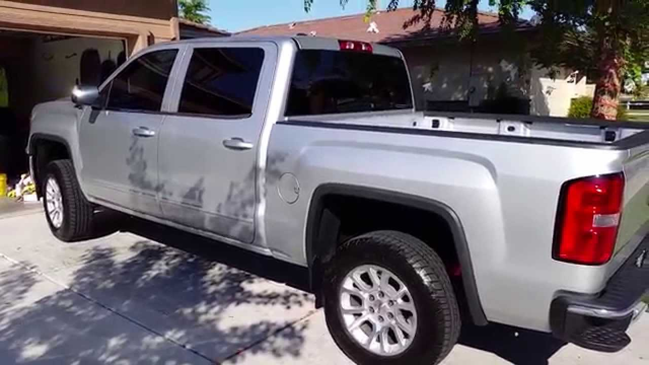 2014 gmc sierra rough country leveling kit leveled 2 5 inches youtube