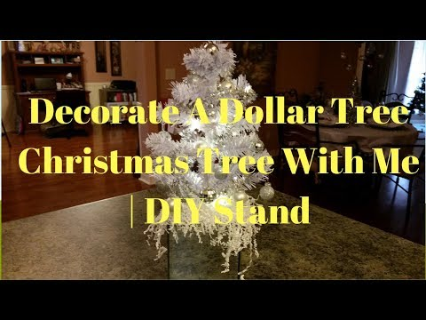 Decorate A Dollar Tree Christmas Tree With Me | DIY Stand
