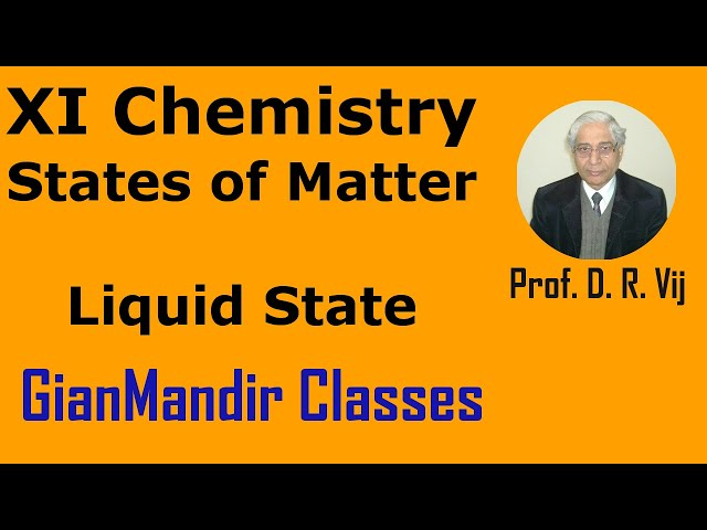 XI Chemistry | States of Matter | Liquid State by Ruchi Ma'am