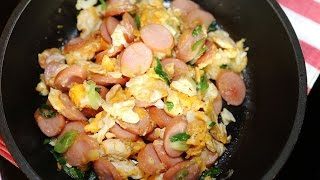 Thai Food : Sausage Stir-Fry with Egg Recipe