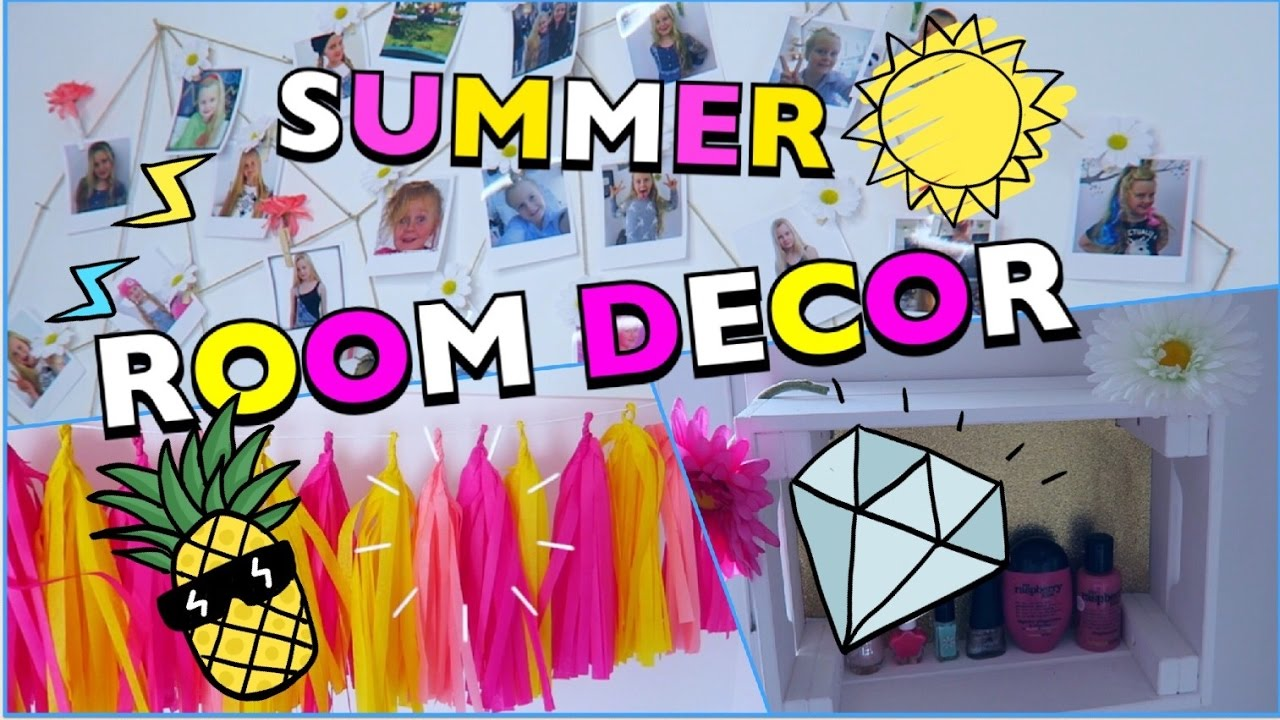 3 diy roomdecor ideen sommer zimmer dekorieren coole m dchen youtube. Black Bedroom Furniture Sets. Home Design Ideas
