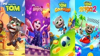 Talking Tom Gold Run - Talking Tom Jetski2 vs My Talking Tom vs My Talking Angela Gameplay