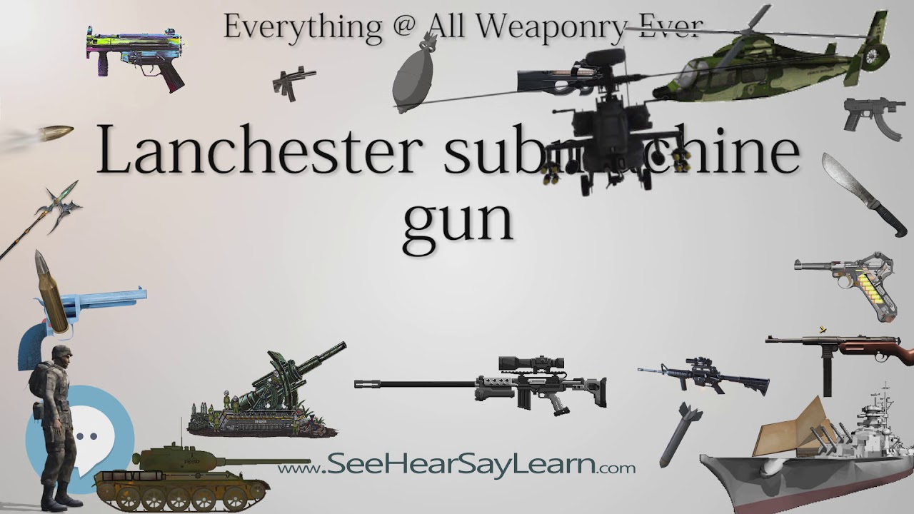 Lanchester submachine gun (Everything WEAPONRY & MORE)💬⚔️🏹📡🤺🌎😜✅