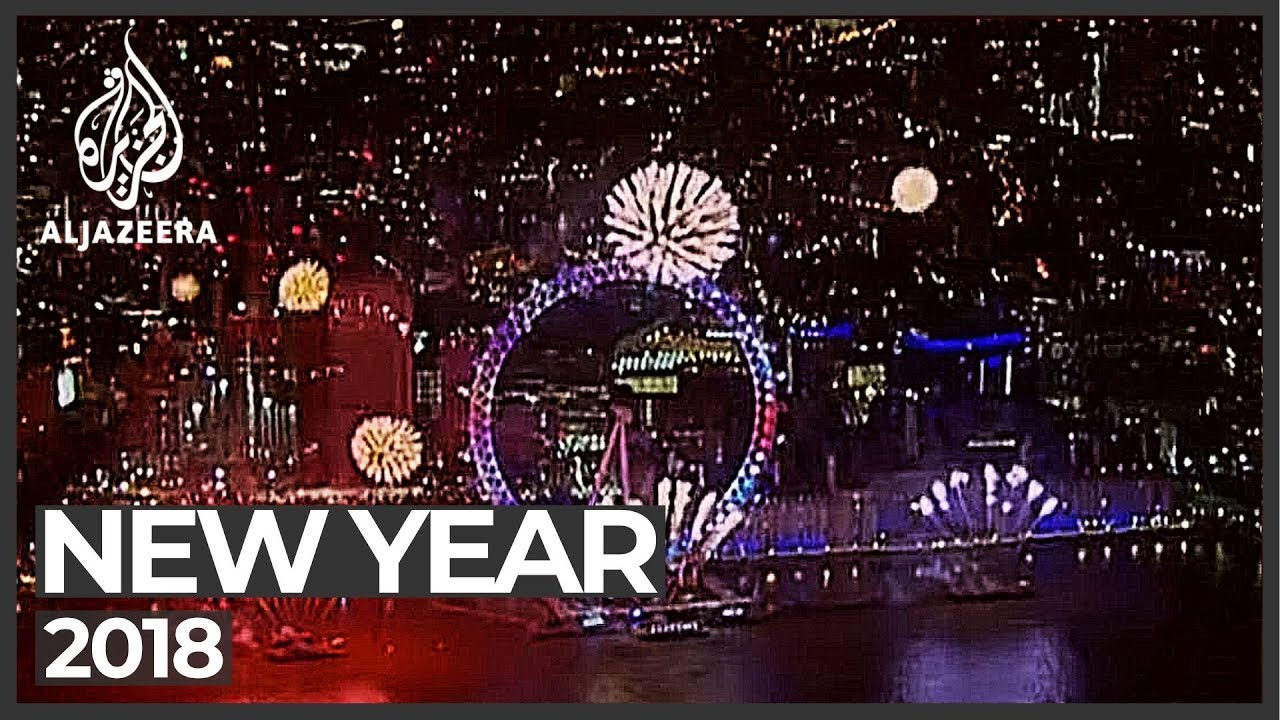 cities across the world welcome 2018 new year celebrations