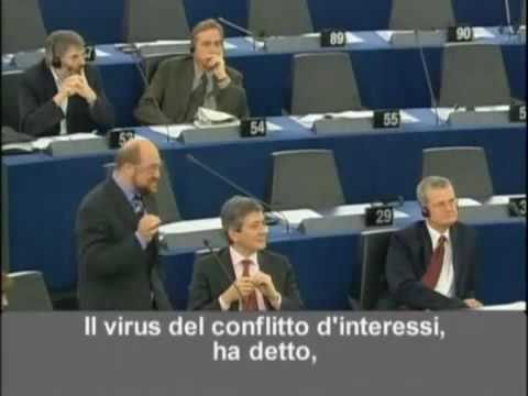 Berlusconi at the European Parliament - eng subs (part1)
