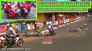 INSIDEN TABRAK KARUNG BERUJUNG RED FLAG HONDA DREAM CUP KELAS HDC 2 SERI PURWOKERTO 2019
