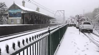 Blackheath Railway Station under snow 12 October 2012