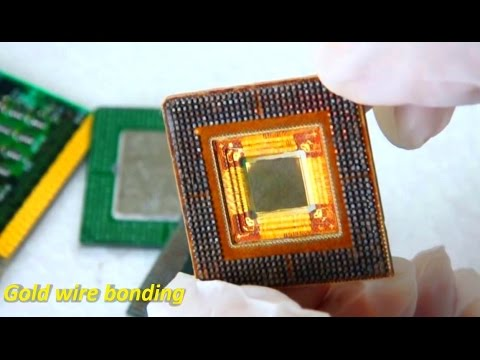 Recycle Gold old CPU processors computer recycling ic chip g