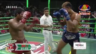 គូសងសឹក! ចៅ ផលឌឿ Vs តូច ទូ, BayonTV Boxing, 14/October/2018   Khmer Boxing Highlights