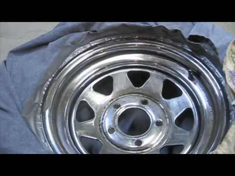 cheap way to restore rusted chrome wheels youtube. Black Bedroom Furniture Sets. Home Design Ideas