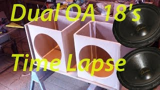 "18"" Obsidian Audio v2 G Sub Subwoofer Box Build (TimeLapse)"