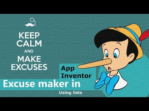 Make an an Android App in 40 minutes: Homework Excuse Maker! | App Inventor-Appybuilder