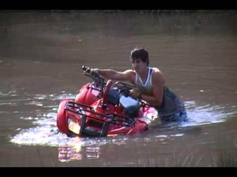 Honda Rancher 420 4x4 Snorkel test - YouTube