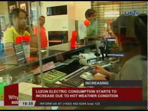 Luzon electric consumption starts to increase due to hot weather condition