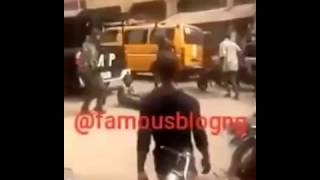 Nigerian soldiers beat up a crippled man on wheelchair