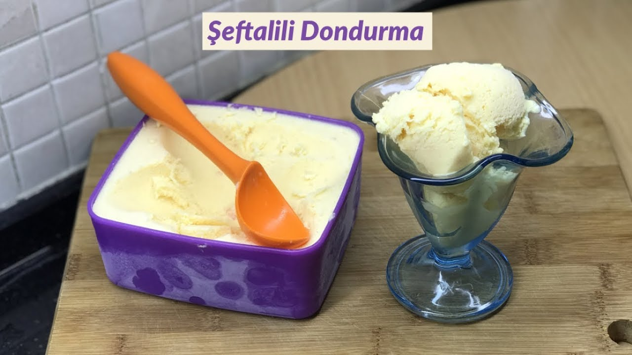 En Kolay ve En Lezzetli Şeftalili Dondurma Tarifi - Naciye Kesici - Yemek Tarifleri