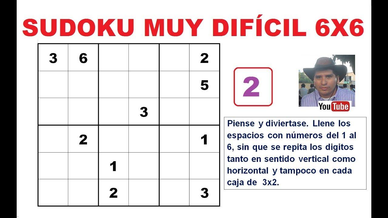 2 Cómo Resolver Un Sudoku De 6x6 Nivel Muy Dificil Youtube
