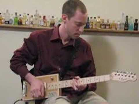 cigar box guitar blues youtube 2
